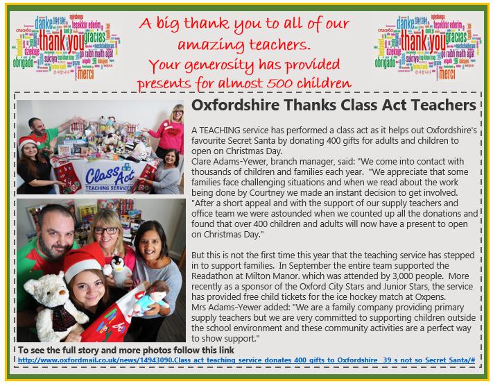 Class Act Secret Santa Oxford Mail
